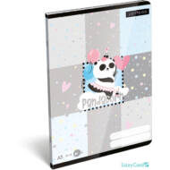 Panda-unikornisos sima füzet - A5 - 20-32 - Lollipop Pandacorn