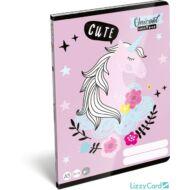 Unikornisos sima füzet - A5 - 20-32 - Lollipop Uni-Cool