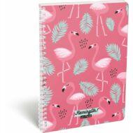 Flamingós vonalas spirálfüzet - A4 - Lollipop Flaming-Oh