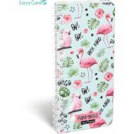 Flamingós spirál szótár füzet - 90x200 mm - Lollipop Funmingo