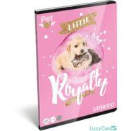Kutyás cicás szótár füzet - A5 - 31-32 - Little Friends Pink