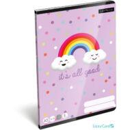 Happy Rainbow vonalas füzet - Lollipop It's all Good - A5 - 2. osztályos / 16-32