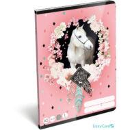 Lovas vonalas füzet - Wild beauty rose - A5 - 1. osztályos / 14-32