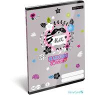 Mosómacis vonalas füzet - Lollipop Raccoon - A5 - 2. osztályos / 16-32