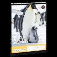 Baby animals vonalas füzet - A5 - 2. osztályos / 16-32 - Pingvines