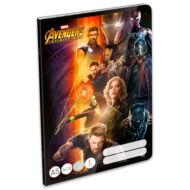 Bosszúállók vonalas A5 füzet - 1. osztályos / 14-32 - Avengers