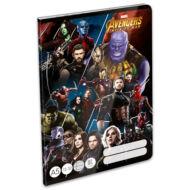 Bosszúállók vonalas A5 füzet - 3. osztályos / 12-32 - Avengers