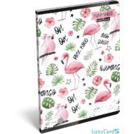 Flamingós vonalas füzet - A5 - 4. osztálytól / 21-32 - Lollipop Funmingo