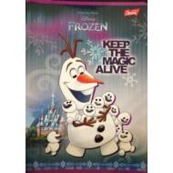 Jégvarázs vonalas füzet - A5 - 2. osztályos / 16-32 - Frozen Olaf
