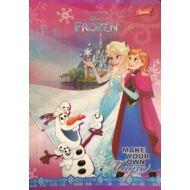 Jégvarázs vonalas füzet - A5 - 2. osztályos / 16-32 - Frozen Make your own Magic
