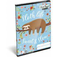 Lollipop Sloth Royal vonalas füzet - A5 - 4. osztálytól / 21-32 - Lajháros