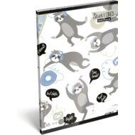 Lajháros vonalas füzet - A5 - 4. osztálytól / 21-32 - Lollipop Sloth Vibes