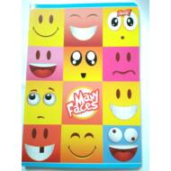 Many Faces vonalas füzet - A5 - 3. osztályos / 12-32 - Emoji