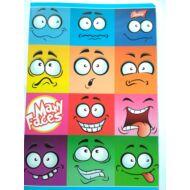 Many Faces vonalas füzet - A5 - 3. osztályos / 12-32 - Emoji Emoticon