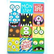 Many Faces vonalas füzet - A5 - 3. osztályos / 12-32 - Monster