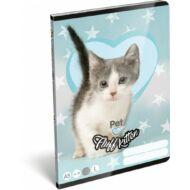 Pet Fluff Kitten cicás vonalas füzet 1. osztály