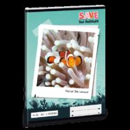 Save the animals vonalas füzet - A5 - 2. osztályos / 16-32 - Bohóchalas
