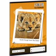 Save the Animals vonalas füzet - A5 - 2. osztályos / 16-32 - Oroszlános