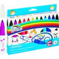 Filctoll készlet - Fiorello Comfort - vastag háromszögletű - 12 szín
