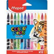 Filctoll készlet Maped Color Peps - 2,8 mm vonalvastagság - 12 szín - Animals