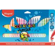 Filctoll készlet Maped Color Peps Jungle - kimosható - 24 szín