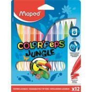 Filctoll készlet Maped Color Peps - 2,8 mm vonalvastagság - 12 szín - Jungle