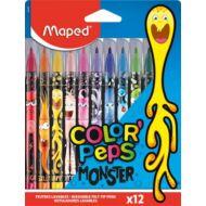 Filctoll készlet Maped Color Peps - 2,8 mm vonalvastagság - 12 szín - Monster