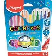 Filctoll készlet Maped Color Peps - 1-3,6 mm vonalvastagság - 12 szín