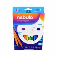 Nebuló filctoll készlet - 1 mm vonalvastagság vízbázisú - 12 szín