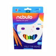 Nebuló filctoll készlet - 1 mm vonalvastagság - 12 szín