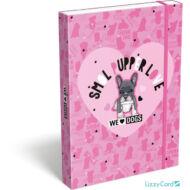 Kutyás A5 füzetbox - We love dogs pink