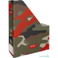 Terepmintás irattartó papucs A4 - Peace Red Label