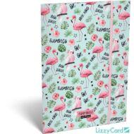 Flamingós A4 gumis mappa - Lollipop Funmingo