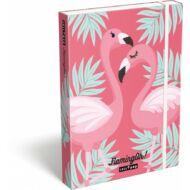 Flamingós füzetbox A5
