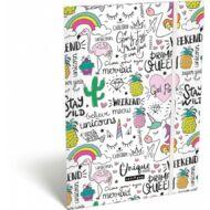 Lollipop Uniqueorn egyszarvús A4 gumis mappa
