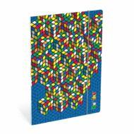 Rubik's gumis mappa - A4 - Rubik kockás