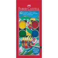 Vízfesték Faber-Castell, 12 szín - 30 mm