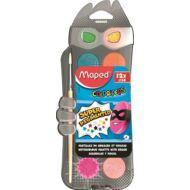 Vízfesték Maped, 12 szín - 30 mm + ajándék ecsettel