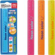 Vonalzó - hajlítható 18 cm - Deli 6206 Neon karkötős vonalzó - többféle színben