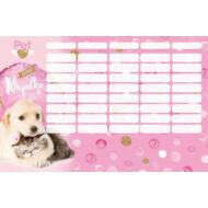 Kutyás cicás nagy órarend - Little Friends Pink