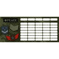Terepmintás órarend - mini - Peace Pixel