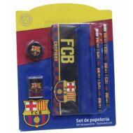 FC Barcelona suliszett tolltartóval - 5 darabos írószer készlet