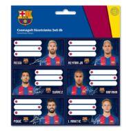 Füzetcímke - FC Barcelona - 18 db / csomag