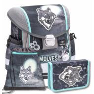 Belmil Classy merevfalú ergonómikus iskolatáska szett - Wolf - farkas