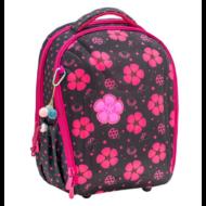 Belmil Studry ergonómikus iskolatáska hátizsák -  Ladybug katicás virágos