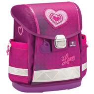 Belmil Classy merevfalú ergonómikus iskolatáska hátizsák - Love 4ever - szíves