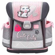 Belmil Classy merevfalú ergonómikus iskolatáska hátizsák - Cute Caty - cicás