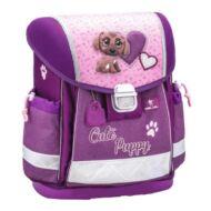 Belmil Classy merevfalú ergonómikus iskolatáska hátizsák - Cute Puppy - kutyás