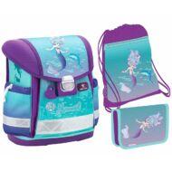 Belmil Classy merevfalú ergonómikus iskolatáska szett - Purple Mermaid - sellős