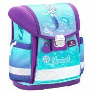 Belmil Classy merevfalú ergonómikus iskolatáska hátizsák - Purple Mermaid - sellős